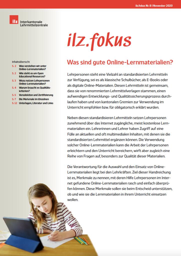 Cover Dossier ilz.fokus Nummer 8